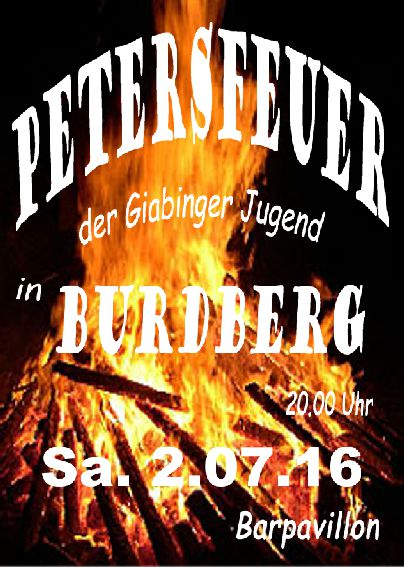 Petersfeuer 2.7.2016